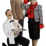 Anthony Sottile (Manuel), Benedict Holme (Basil), and Karen Hamilton (Sybil)